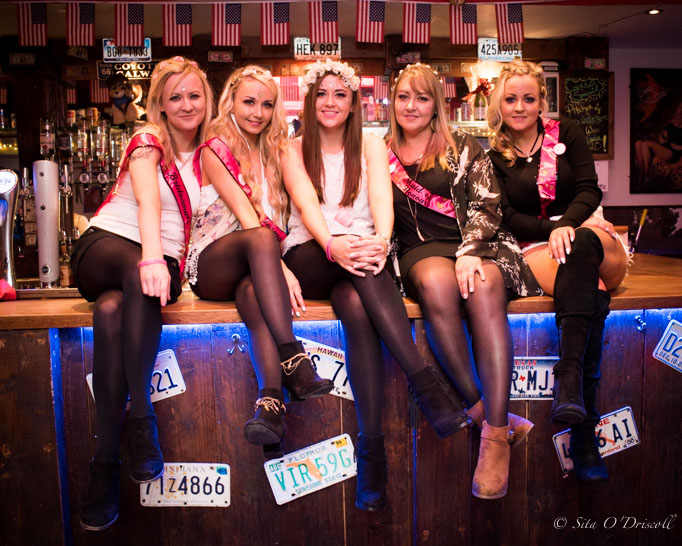 Hen Party in Galway, Ireland